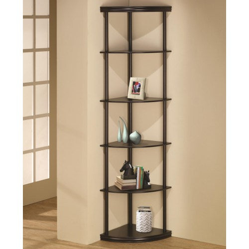 Bookcases Corner Bookshelf in Dark Finish