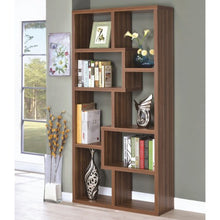 Load image into Gallery viewer, Bookcases 8 Shelf Staggered Bookcase