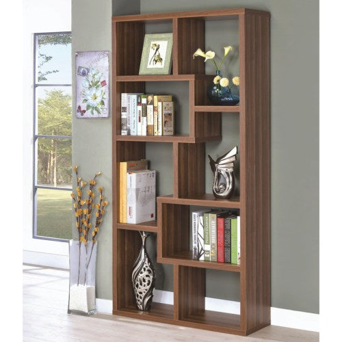 Bookcases 8 Shelf Staggered Bookcase