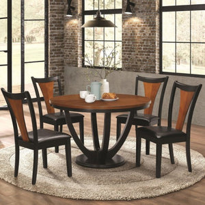 Boyer Contemporary 5 Piece Table and Chair Set with Two-Tone Finish