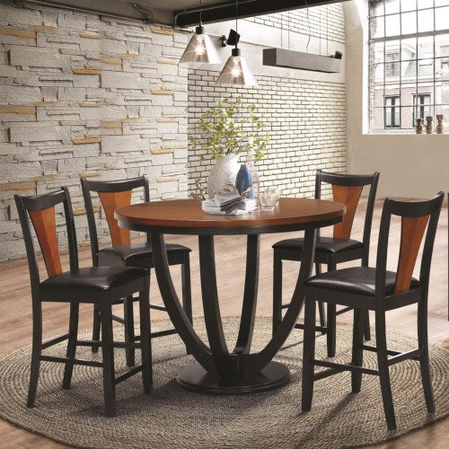 Boyer Contemporary 5 Piece Counter Height Table and Chair Set