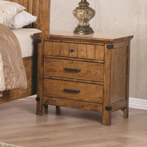 Brenner 3 Drawer Night Stand with Felt-Lined Drawer