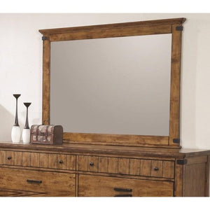 Brenner Mirror with Wood Frame