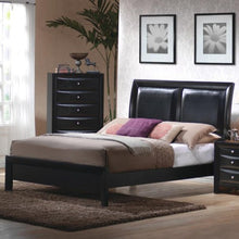 Load image into Gallery viewer, Briana Queen Low Profile Footboard Bed with Upholstered Panel Headboard
