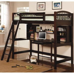 Bunks Casual Twin Workstation Loft Bunk