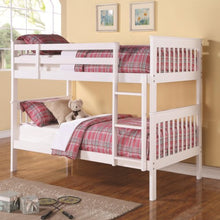 Load image into Gallery viewer, Bunks Twin Over Twin Bunk Bed with Full Length Guard Rails
