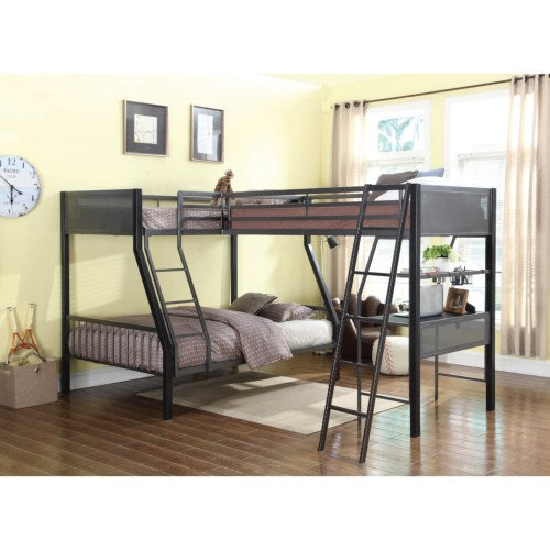 Bunks Metal Twin over Full Loft Bunk Bed with Loft
