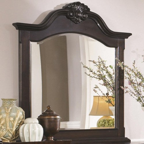 Cambridge Arched Dresser Mirror with Shell Carving