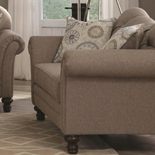 Load image into Gallery viewer, Carnahan Traditional Loveseat with Turned Legs and Rolled Arms