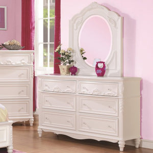 Caroline Decorative 6 Drawer Dresser and Mirror Set