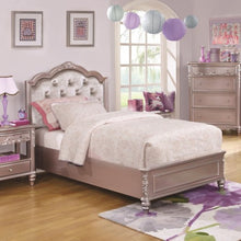 Load image into Gallery viewer, Caroline Full Size Bed with Diamond Tufted Headboard