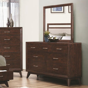 Carrington 7 Drawer Dresser & Mirror with Wood Frame