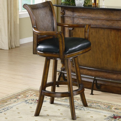 Clarendon Traditional Bar Stool with Leather Seat