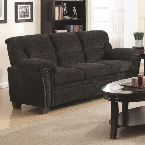 Clemintine by Coaster Casual Padded Sofa with Nail Heads