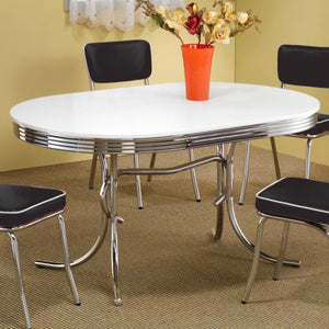 Cleveland Chrome Plated Oval Dining Table