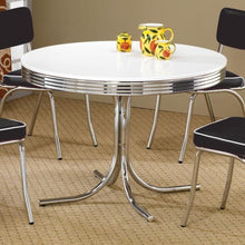 Load image into Gallery viewer, Cleveland Round Chrome Plated Dining Table-COA