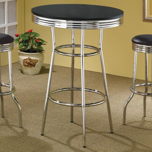 Cleveland 50's Soda Fountain Bar Table with Black Top