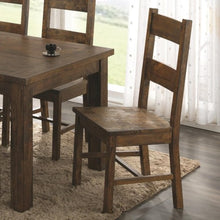 Load image into Gallery viewer, Coleman Wooden Dining Chair with Rustic Finish
