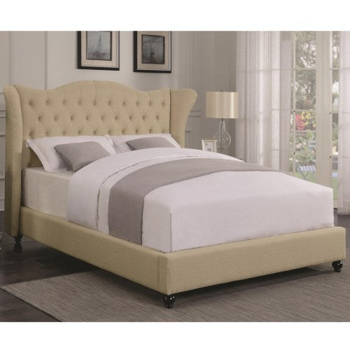 Coronado Transitional Upholstered Full Bed with Button Tufted Headboard