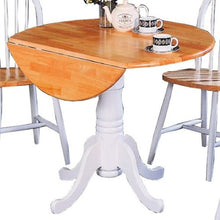 Load image into Gallery viewer, Damen Round Pedestal Drop Leaf Table