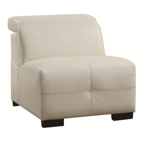 Darby Contemporary Armless Chair with Adjustable Headrest