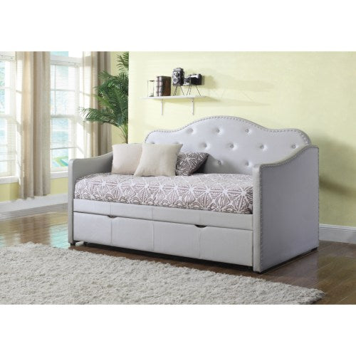 Daybeds by Coaster Upholstered Daybed with Trundle