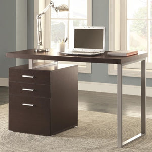 Writing Desk with File Drawer and Reversible Set-Up