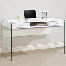 Load image into Gallery viewer, Modern Computer Desk with Glass Sides