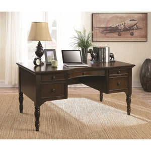 Traditional Writing Desk With Curved Profile