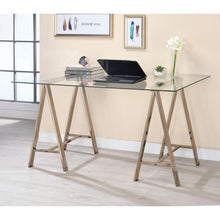 Load image into Gallery viewer, Contemporary Sawhorse Writing Desk