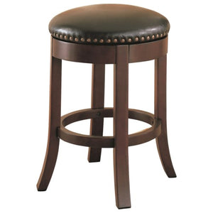 "Dining Chairs and Bar Stools 24"" Swivel Bar Stool with Upholstered Seat"