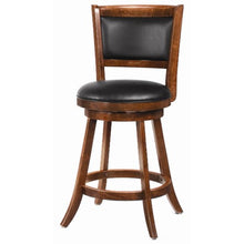 "Load image into Gallery viewer, Dining Chairs and Bar Stools 24"" Swivel Bar Stool with Upholstered Seat"