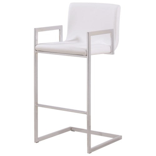 Dining Chairs and Bar Stools Contemporary Bar Stool with Upholstered Seat