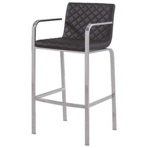 Dining Chairs and Bar Stools Contemporary Bar Stool with Quilted Upholstery