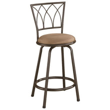 "Load image into Gallery viewer, Dining Chairs and Bar Stools 24"" Metal Bar Stool with Upholstered Seat"