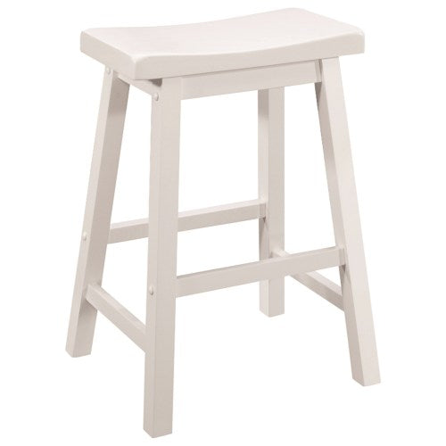 Dining Chairs and Bar Stools Casual Counter Height Stool with Scooped Seat