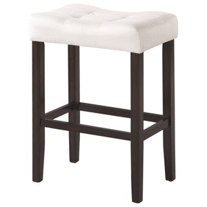 Dining Chairs and Bar Stools Upholstered Backless Bar Stool