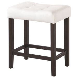 Dining Chairs and Bar Stools Upholstered Backless Counter Height Stool