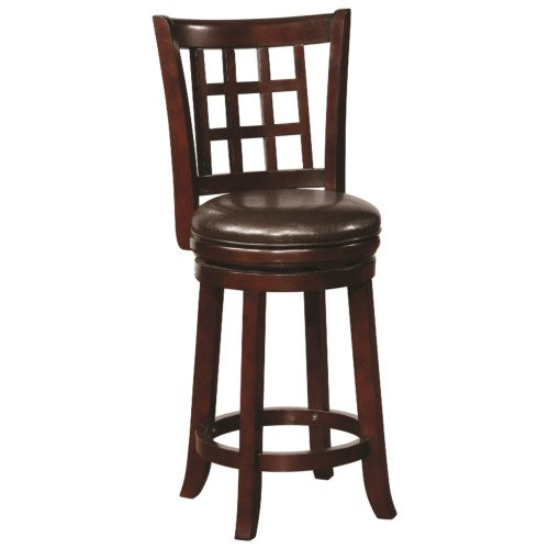 Dining Chairs and Bar Stools Swivel Counter Height Stool with Upholstered Seat