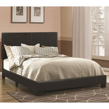 Load image into Gallery viewer, Dorian Black Upholstered Leatherette Full Bed