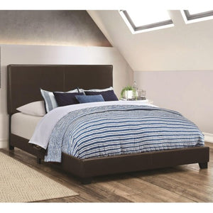 Dorian Brown Upholstered Leatherette Full Bed