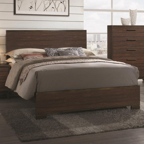 Edmonton California King Bed with Wood Headboard