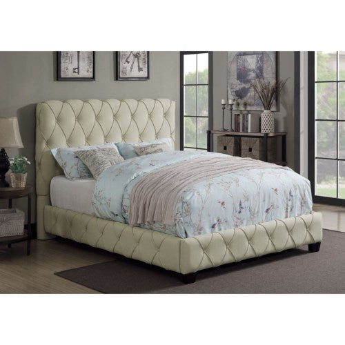 Queen Upholstered Bed With Button Tufting 300684Q
