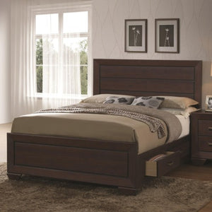Fenbrook Transitional California King Bed with Storage Drawers
