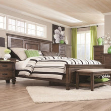 Load image into Gallery viewer, Franco California King Bed with Louvered Panel Headboard