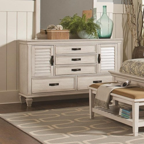 Franco 5 Drawer Dresser with 2 Louvered Doors