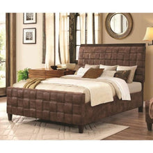 Load image into Gallery viewer, Gallagher Upholstered Full Bed with Basket Weave Design