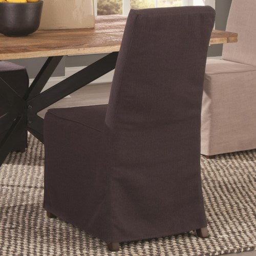 Galloway Slip Covered Fabric Dining Chair
