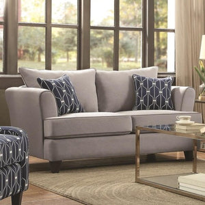 Hallstatt Casual Flare Arm Loveseat with Toss Pillows