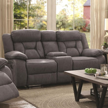 Load image into Gallery viewer, Houston Casual Pillow-Padded Reclining Loveseat with Cupholder Storage Console